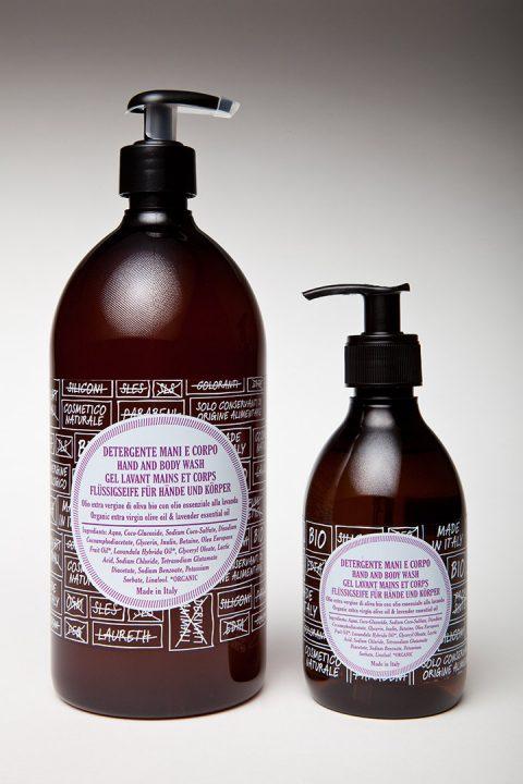 ricaricando detergente mani e corpo